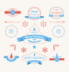 new year labels and stickers set vector image