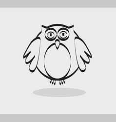 Owl icon in black line vector