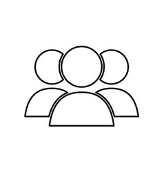 people teamwork symbol vector image