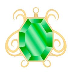 Peridot jewelry mockup realistic style vector