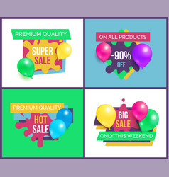 Premium quality total sale on all products 90 off vector