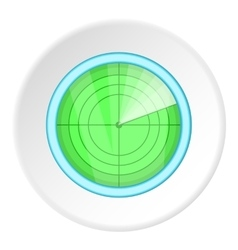 Radar icon cartoon style vector image