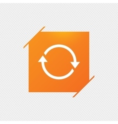 Rotation icon Repeat symbol Refresh sign vector image