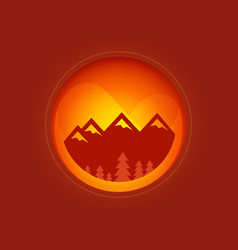 round of mountains vector image