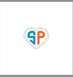 S p letter logo design on black color background vector