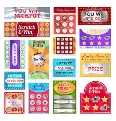 Scratch card set vector