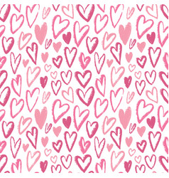 Seamless hearts pattern repeating texture vector