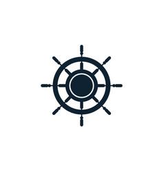 ship wheel logo icon design template vector image