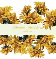 Sunflower card vector image