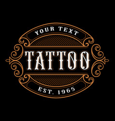 Tattoo logo template vector