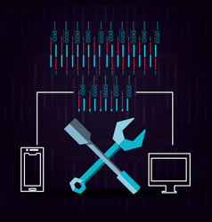 Technological equipment configuration tools vector