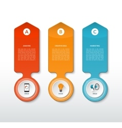 template for infographics with 3 options vector image
