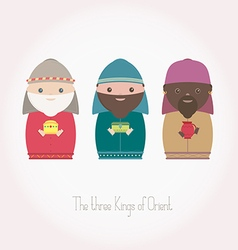 The three Kings of Orient wisemen vector