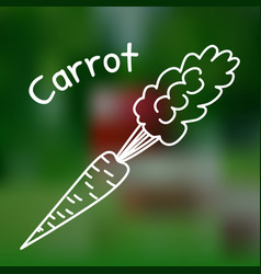 Thin line carrot icon vector