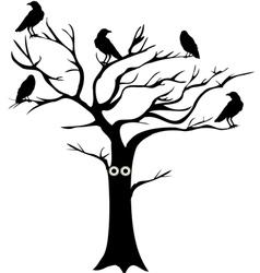 Tree crows vector