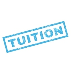 Tuition Rubber Stamp vector image