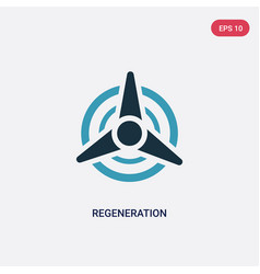 two color regeneration icon from sauna concept vector image