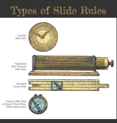 Types slide rules vector