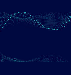 Waving particle technology background vector