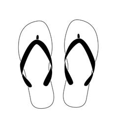 White flip flops vector