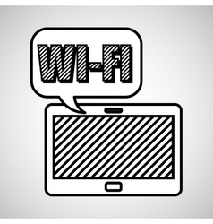 Wifi technology app vector image