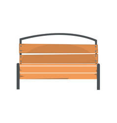 Wooden outdoor bench urban infrastructure element vector