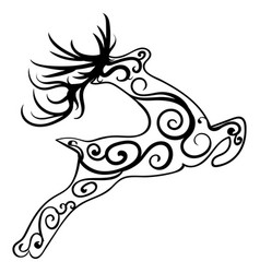 zentangle stylized deer ethnic patterned vector image