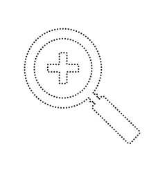 zoom sign black dotted icon vector image