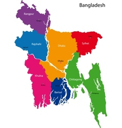 Bangladesh map vector image