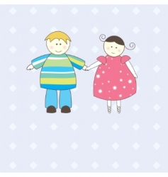 boy and girl illustration vector image