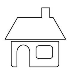 figure house with window door and chimney vector image