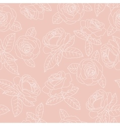 pink outline roses vector image