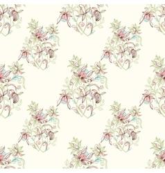Sketch zentangle seamless floral pattern vector image vector image