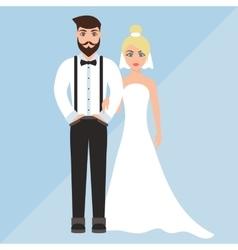 wedding of a cute boy and girl vector image vector image