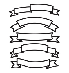 Banner and ribbon set vector image vector image