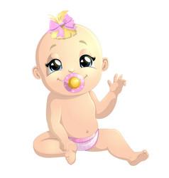 beautiful cute baby vector image