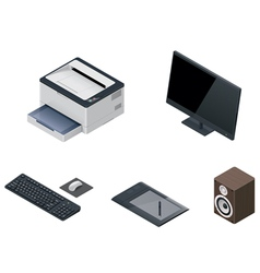 computer devices icon set vector image