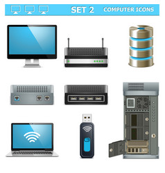Computer Icons Set 2 vector image
