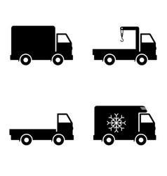icon set delivery car vector image