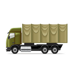 Military truck isolated on white vector image vector image