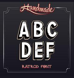 Retro vintage label alphabet vector