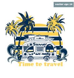 summer van vector image