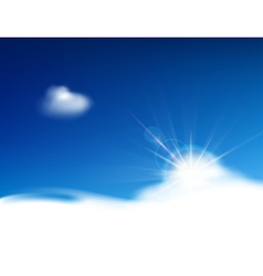 bright blue sky vector image