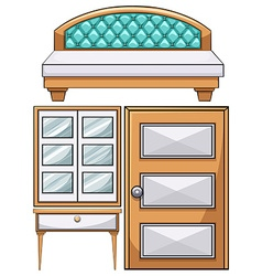 Furniture in the bedroom vector image vector image