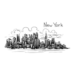 new york sketch vector image