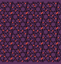 seamless pattern with abstract molecule vector image
