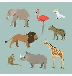 Set of different african animals animals vector