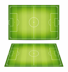 soccer field collection football fields with vector image vector image