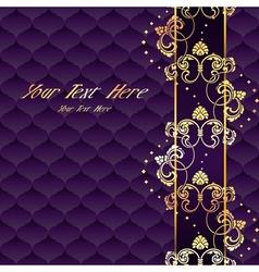 Elegant purple Rococo background vector image vector image