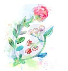 Floral design element for card or inviration vector image